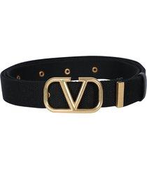 gold tone v-logo belt
