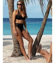 urban black underwire banded halter bikini top