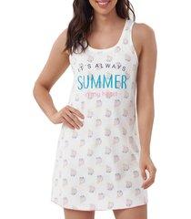 camisola cor com amor 12401 - off-white - feminino - dafiti