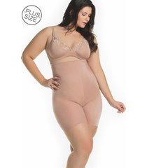 cinta mondress lingerie modeladora de perna e cintura alta bege