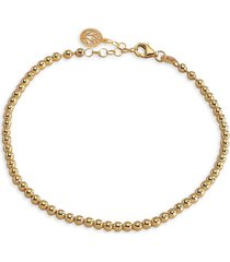 gabi rielle women's renew 14k yellow gold vermeil caviar beaded ball chain bracelet