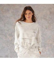 sundance catalog women's crystal cove sweatshirt in slvrcrystl xl