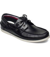 classic leather boat shoe båtskor skor svart tommy hilfiger
