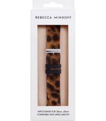 rebecca minkoff women's apple watch strap leopard