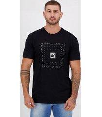 camiseta hang loose otic silk preta - masculino
