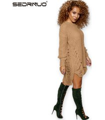 european american style knit women pullovers dress fashion o neck long sleeve