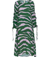 louise jurk knielengte groen fall winter spring summer