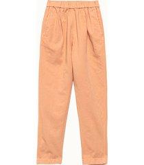 forte forte pantalone in gabardina rosa