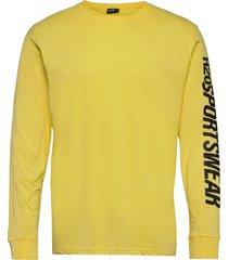 bjørnø tee l/s t-shirts long-sleeved gul h2o