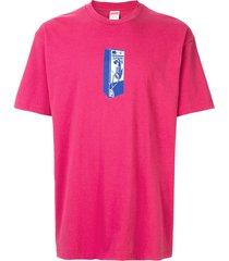 supreme payphone-print t-shirt - pink