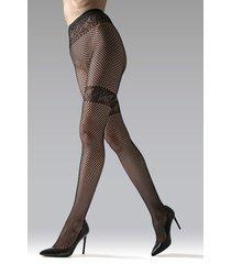 natori geo net tights, women's, black, size m natori