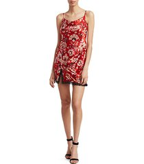 avalyn floral silk mini dress