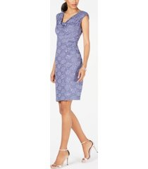 connected sequined lace sheath dress