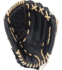 "franklin sports 12.5"" pro flex hybrid series black/camel baseball glove left handed thrower"