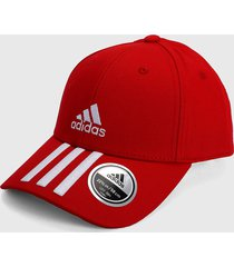 gorra rojo-blanco adidas performance baseball twill 3 bandas