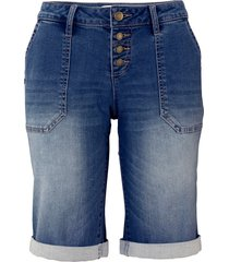 jeansbermudas, stretch