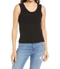 madewell women's fairview sweater tank, size xx-large in true black at nordstrom