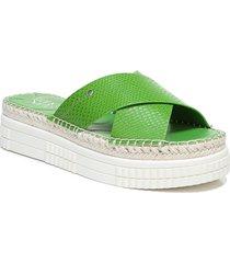 women's franco sarto barb platform slide sandal, size 9.5 m - green