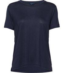 d1. light weight ss t-shirt t-shirts & tops short-sleeved blauw gant