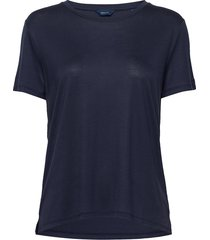 d1. light weight ss t-shirt t-shirts & tops short-sleeved blauw gant