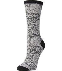 natori fields of chi socks, women's, black, cotton natori