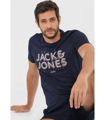 camiseta jack & jones casual azul