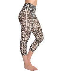 leopard-print high-waist leggings