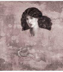 donna in rosa - fototapeta autorska