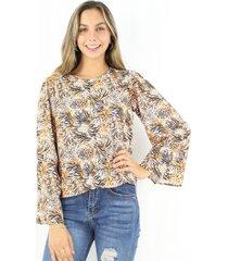 blusa antonia animal print jacinta tienda