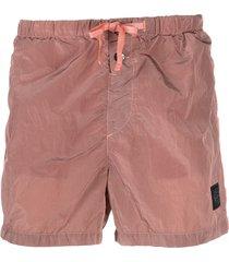 stone island shell swim shorts - red