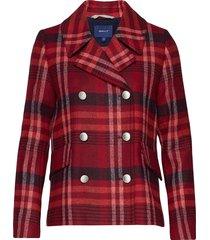 d1. classic peacoat ulljacka jacka röd gant