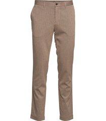 chaze-flannel twill kostuumbroek formele broek beige j. lindeberg