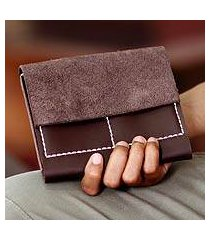 leather wallet, 'versatile brown' (indonesia)