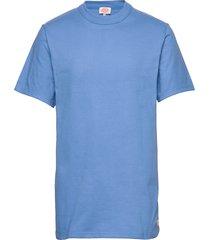round neck t-shirt t-shirts short-sleeved blå armor lux