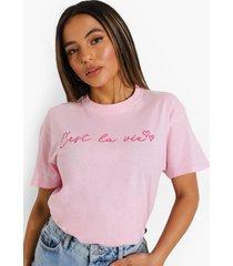 petite c'est la vie t-shirt, pale pink