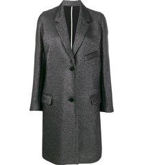 zadig & voltaire marla lurex single breasted coat - black