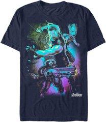 marvel men's avengers infinity war neon fighting three short sleeve t-shirt