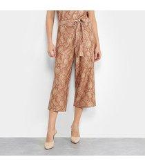 calça pantacourt marialícia cobra feminina