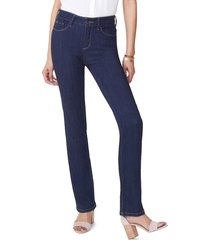 women's nydj marilyn curves 360 straight leg jeans, size 2 - blue
