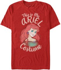 disney men's little mermaid ariel halloween costume short sleeve t-shirt