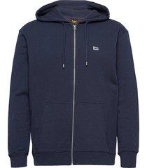 basic zip through ho hoodie blå lee jeans