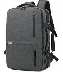 mochila de hombre. mochila hombres nuevo negocio carga usb-gris