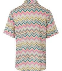 blouse 100% katoen korte mouwen van peter hahn multicolour
