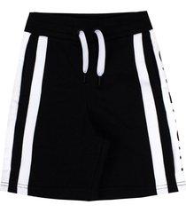 givenchy black cotton logo jersey shorts