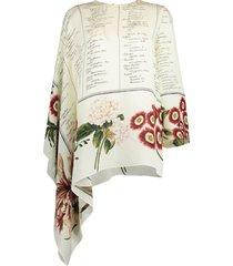 asymmetric printed blouse