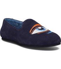 hums suede eye loafer loafers låga skor blå hums
