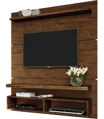 "painel home suspenso para tv atã© 55"" sala de estar guns canyon - gran belo - marrom - dafiti"