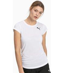 active t-shirt voor dames, wit/aucun, maat l   puma