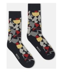 wesc kennedy collage crew socks, 2 pack