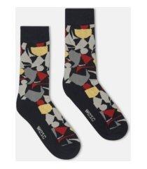 wesc kennedy collage crew socks, 2 pack